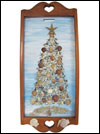 Hand Crafted Seashell Christmas Tree Wooden Wall Hanging Mini-Thumbnail