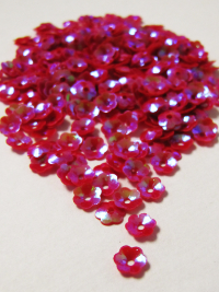 5mm Flower Sequins — Cerise