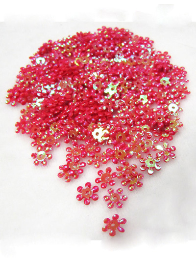 8mm Snowflake Sequins — Iridescent Fuchsia
