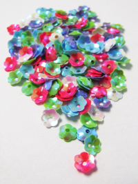 6mm Flower Sequins — Mixed Colors