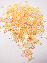 2-3mm Star Sequins — Peach