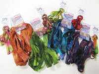 100% Silk Ribbon Hand Dyed by Piecemakers and Cam Creations