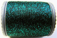 Sparkle Lamé - LM211 Emerald Green and Black