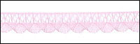 Pink Fine Crocheted Trim with Scalloped Edges - # 04390 B 000 col. 074