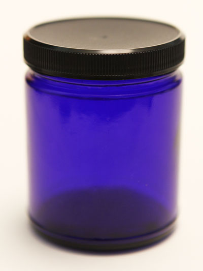 Cobalt Glass Jar — 8 ounces