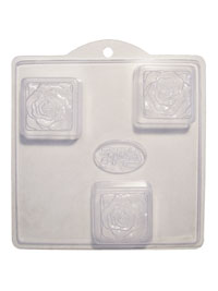 Soap Mold — Roses on Squares