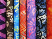 Hand Dyed Batik Fabric in Various Colors & Prints — Sold by the Inch