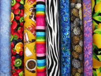 Fabric Sold by the Inch in Various Materials, Colors, Prints and More