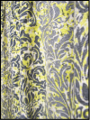 Vintage Barkcloth with Gray and Yellow Print SWATCH