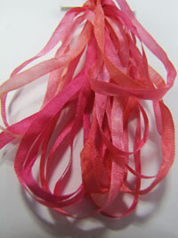 Thread Gatherer Hand-dyed Silk Ribbon, 4mm — Coral Shells 041_THUMBNAIL