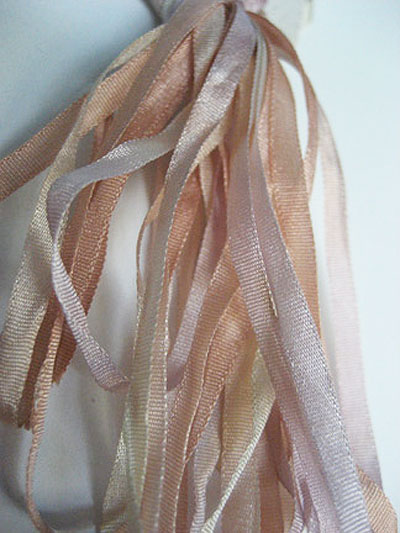 Thread Gatherer Hand-dyed Silk Ribbon, 4mm — Southwest Sands 061
