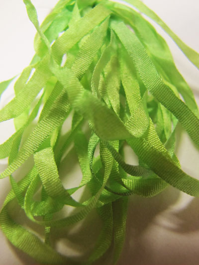 Thread Gatherer Hand-dyed Silk Ribbon, 4mm — Sprite Grass 151