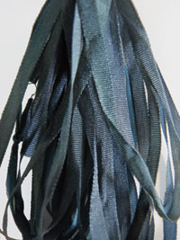 Thread Gatherer Hand-dyed Silk Ribbon, 4mm — Stormy Skies 006