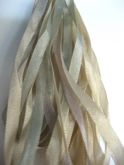 Thread Gatherer Hand-dyed Silk Ribbon, 4mm — Aged Antiquity 160