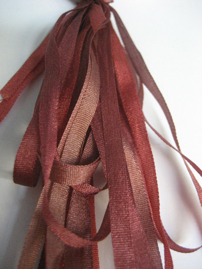 Thread Gatherer Hand-dyed Silk Ribbon, 4mm — Autumn Foliage 002
