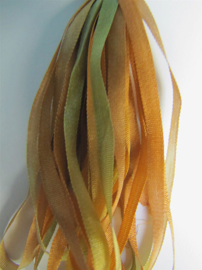 Thread Gatherer Hand-dyed Silk Ribbon, 4mm — Autumn Honey 069