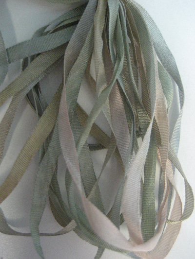 Thread Gatherer Hand-dyed Silk Ribbon, 4mm — Cactus 'n Sands 037
