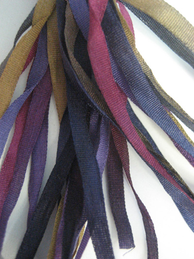 Thread Gatherer Hand-dyed Silk Ribbon, 4mm — Egyptian Nights 026