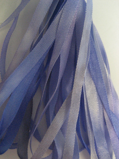 Thread Gatherer Hand-dyed Silk Ribbon, 4mm — Forget-Me-Not 081