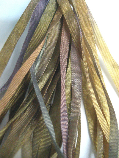 Thread Gatherer Hand-dyed Silk Ribbon, 4mm — Lavender Honey 971