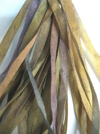 Thread Gatherer Hand-dyed Silk Ribbon, 4mm — Lavender Honey 971_THUMBNAIL