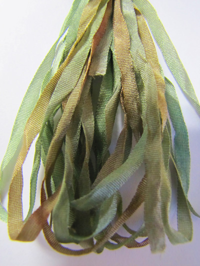 Thread Gatherer Hand-dyed Silk Ribbon, 4mm — Maidenhair Fern 027