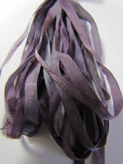 Thread Gatherer Hand-dyed Silk Ribbon, 4mm — Medieval Mulberry 091