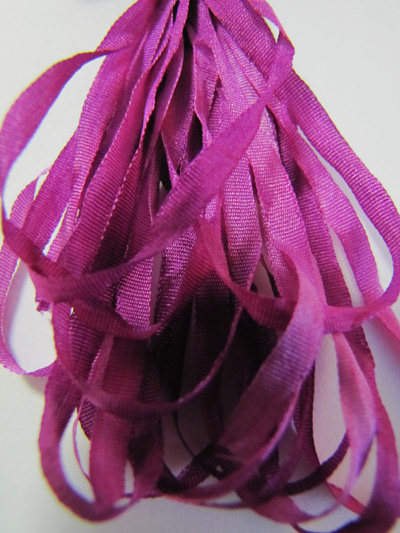 Thread Gatherer Hand-dyed Silk Ribbon, 4mm — Orchid 093