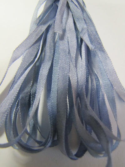 Thread Gatherer Hand-dyed Silk Ribbon, 4mm — Periwinkle 022