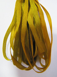 Thread Gatherer Hand-dyed Silk Ribbon, 4mm — Pond Scum 110_THUMBNAIL