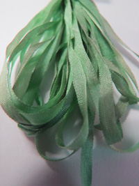 Thread Gatherer Hand-dyed Silk Ribbon, 4mm — Seafoam Green 016_THUMBNAIL