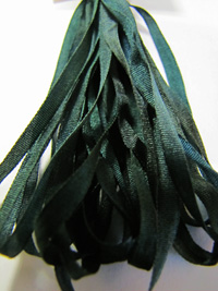 Thread Gatherer Hand-dyed Silk Ribbon, 4mm — Tapestry Green 054_THUMBNAIL