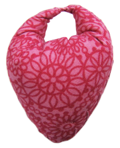 Thumb Pincushion - Strawberry Tone-on-Tone