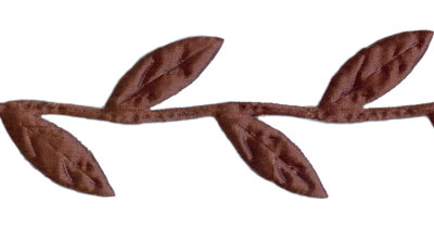 Dark Brown Leaves Trim by May Arts - # 448-36