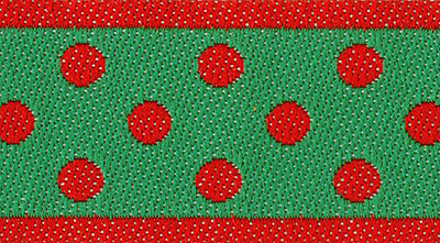 Renaissance Ribbons #5-114 col. 5 Red and Green Reversible