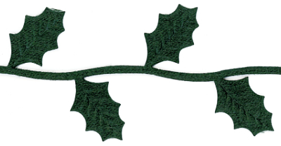 Green Holly Leaves Trim by May Arts - # EX-45