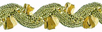 Green Scalloped Trim with Gold Accents by Stephanoise - # S7420B col. 053