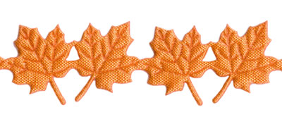 Orange Maple Leaves Trim by May Arts - # EX-98_MAIN