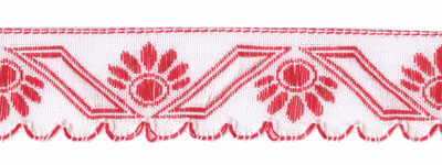 Red and White Scallop Edge Trim - # HC-217 col. 65_MAIN