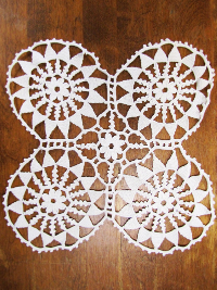 Vintage Sixteen Point Design Lace Doily