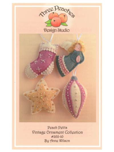Peach Petits Vintage Ornament Collection #202-10 by Anne Wilson