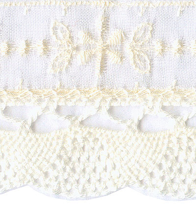 Cream Eyelet with Fine Crocheted Edge - # S03360D col. 051