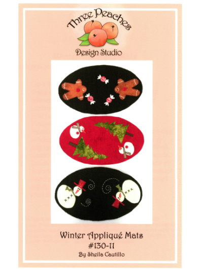 Winter Appliqué Mats #130-11 by Sheila Cautillo