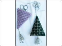 Needlepoint Christmas Tree Ornament or Scissors Case