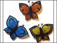 French Beaded Butterfly