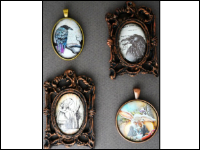 Vintage Frames with Cabochons
