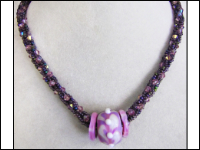 Kumihimo Crystal Bling Necklace