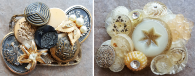 Buttons, Beads and Baubles Hair Clip or Brooch