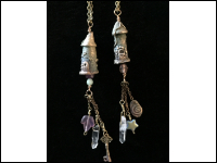 Bronze Clay Fairy Tower Necklace