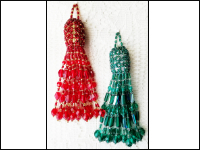 Crystal Beaded Fancy Tassel